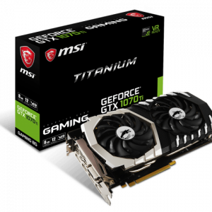 MSI GEFORCE GTX 1070 TI TITANIUM 8GB GDDR5 VIDEO CARD - NEW - NEW