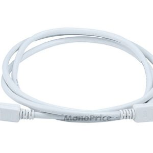 MONOPRICE 6FT 28AWG DISPLAYPORT CABLE - WHITE - NEW - NEW