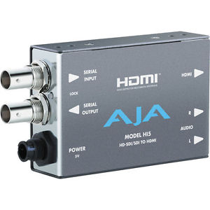 AJA HI5 AJA HD/SD-SDI TO HDMI VIDEO AND AUDIO CONVERTER WITH DWP